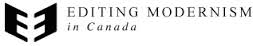 Logo for Editing Modernism in Canada project